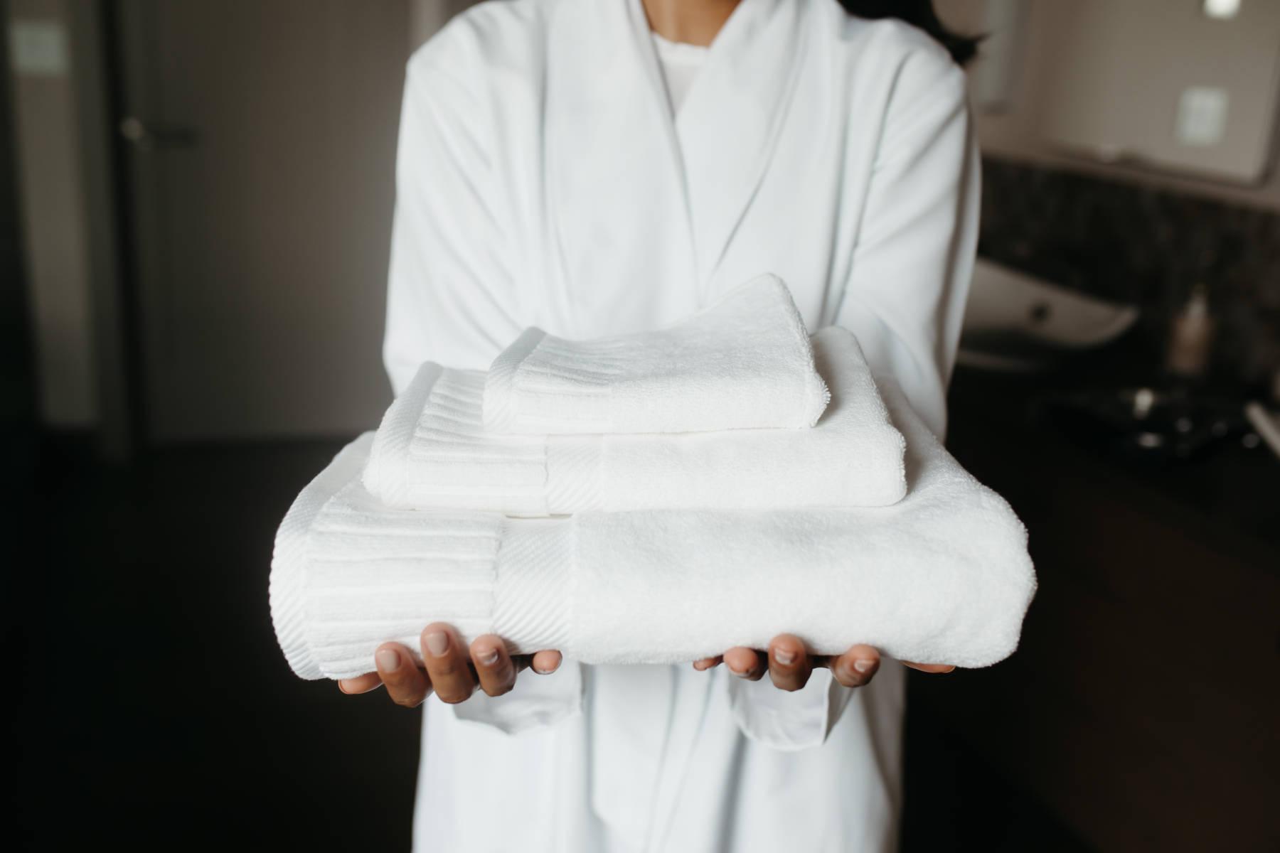 大判のタオル